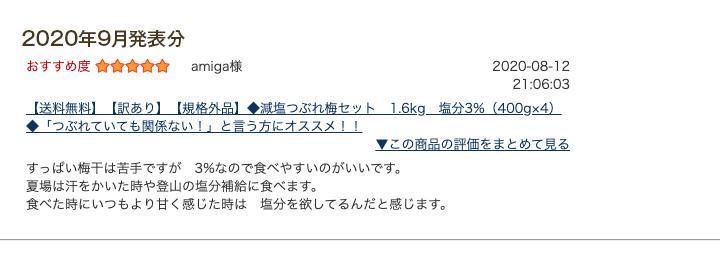 レビュー賞9月