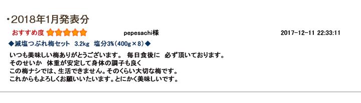 レビュー賞1月