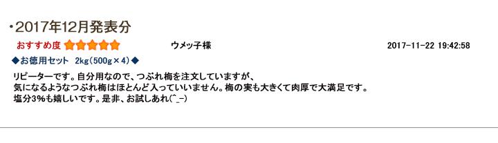 レビュー賞12月